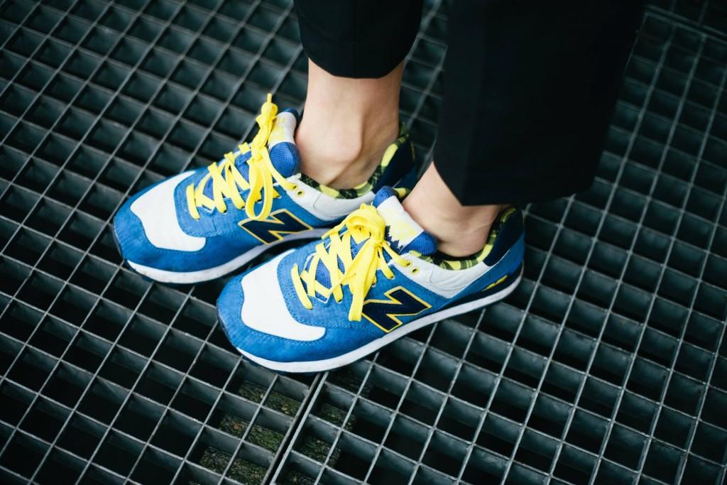 New balance 574 bleu jaune