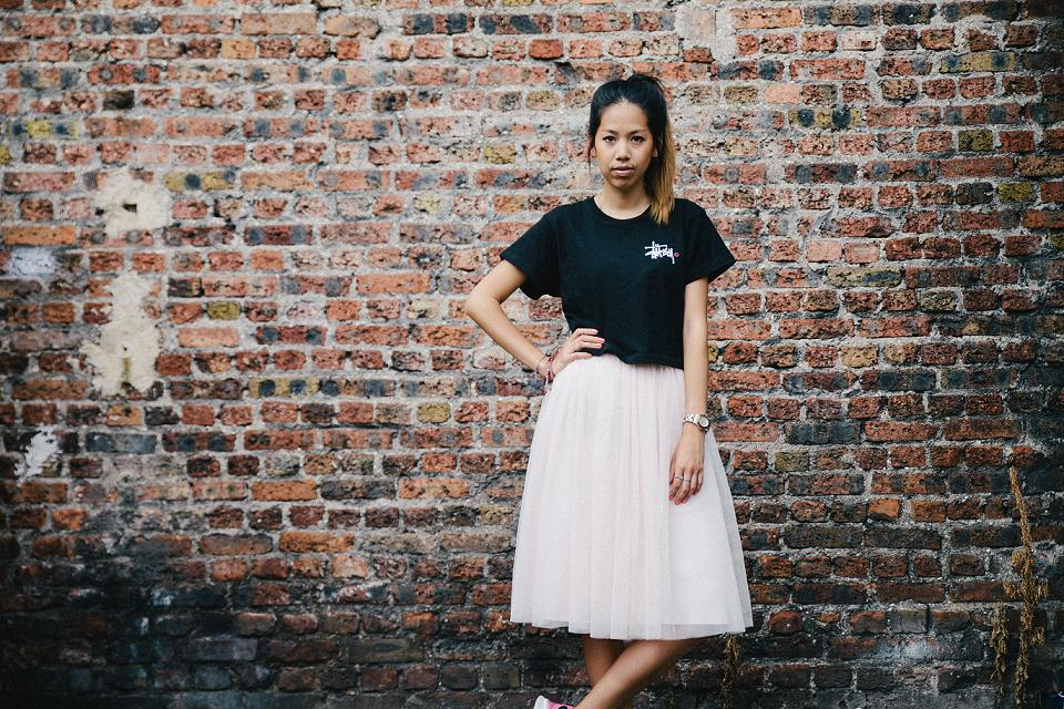 Stussy cropped t shirt
