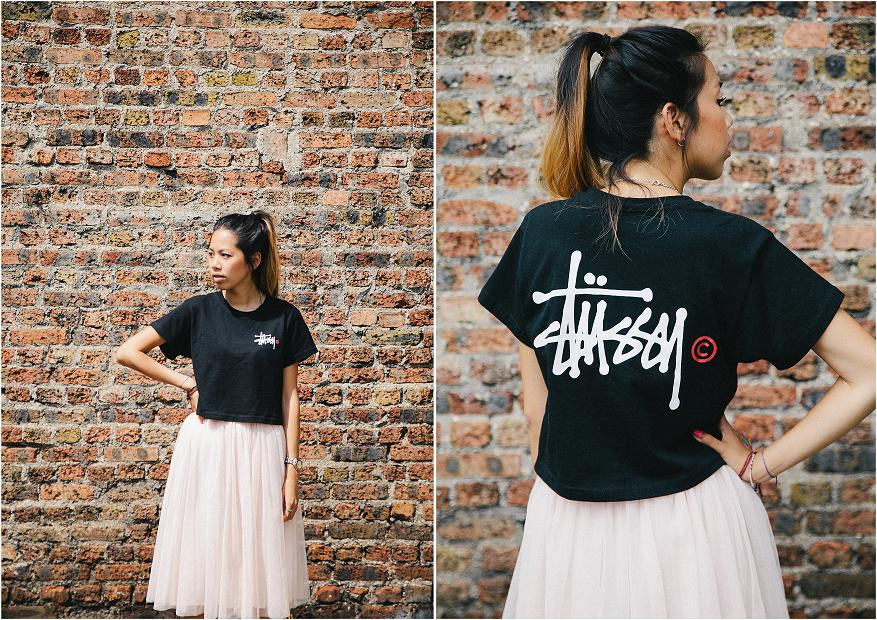 Stussy cropped t shirt 3