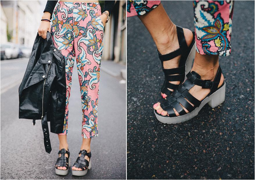 Missguided pink printed pant