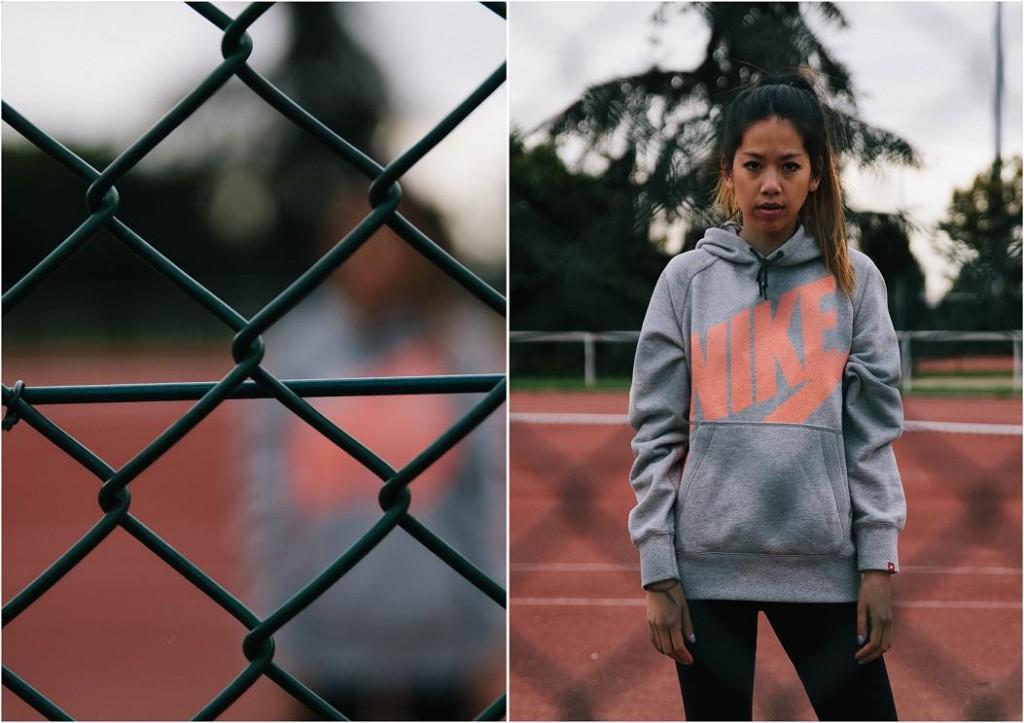 Pull gris Nike à Capuche