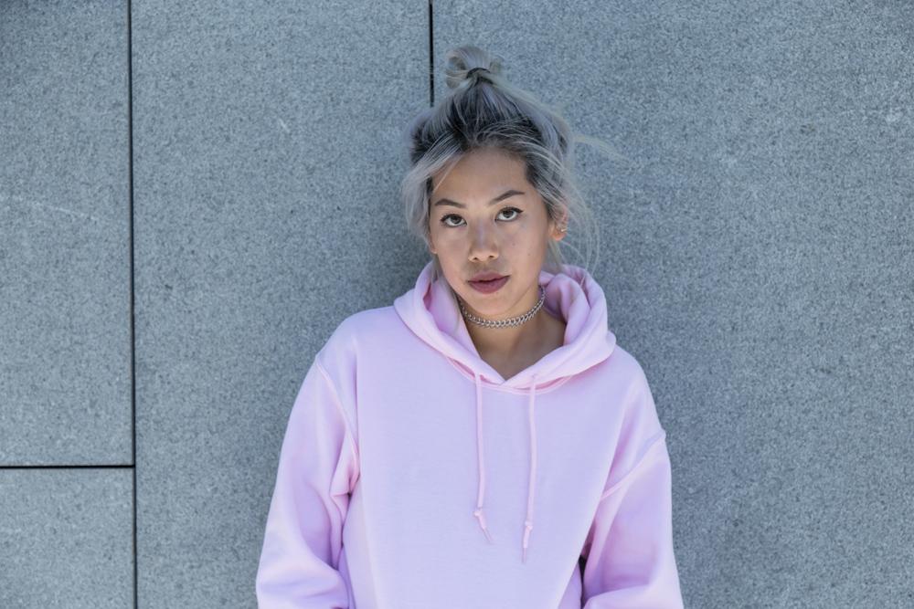 Bdg pink hoodie - UO x Candy Rosie