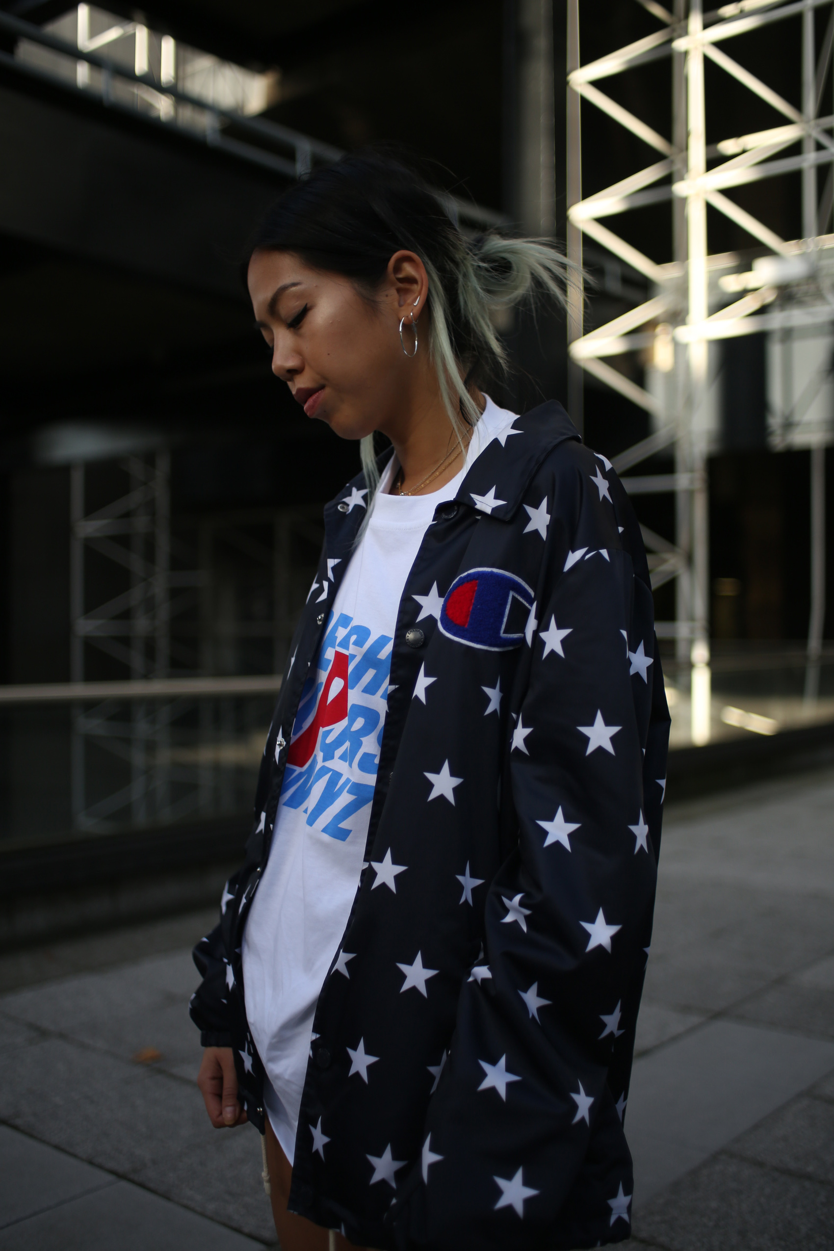 Champion coach jacket stars usa