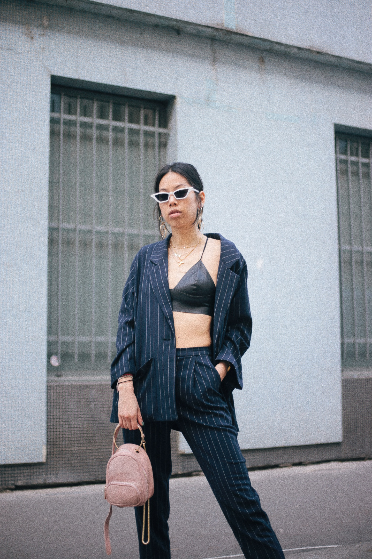 Monki Pinstripe suit