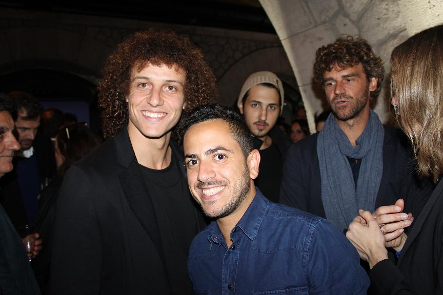David Luiz and Kuerten Lacoste party Elegance is victory Faust