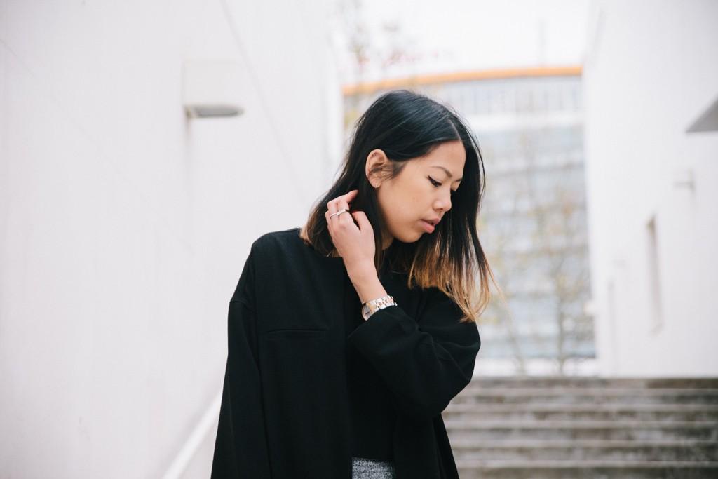 Monki black jacket