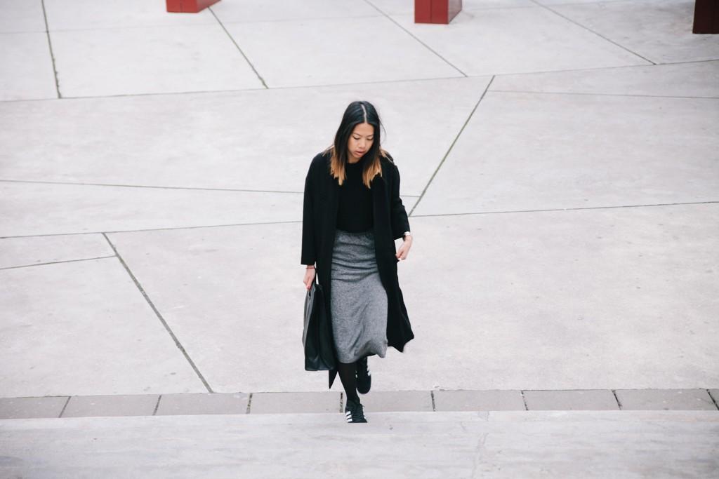 Monki grey skirt