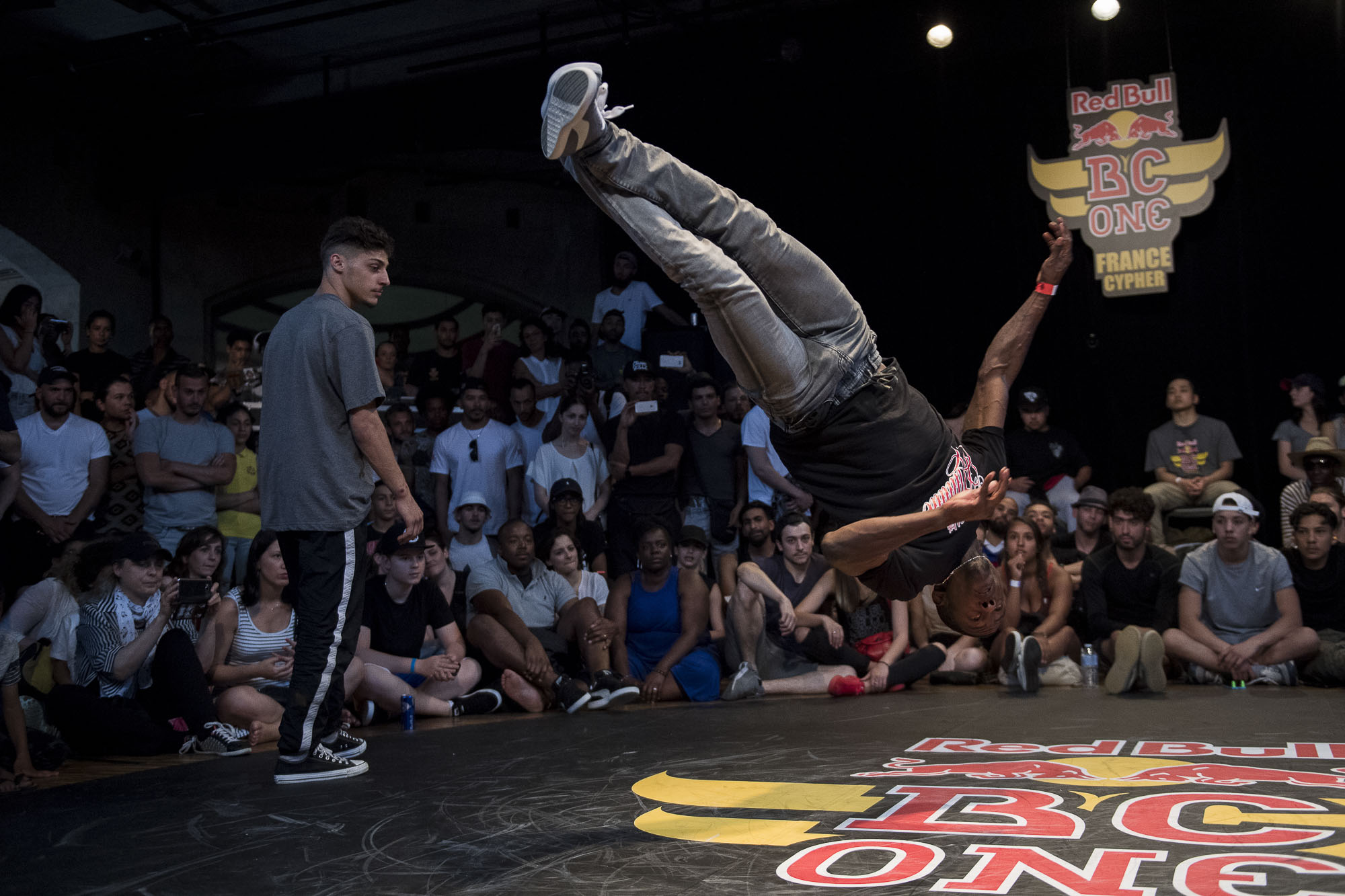 Dany competes at the WIP Villette during the Red Bull BC One France Cypher Final in Paris, France on July 10th 2016.