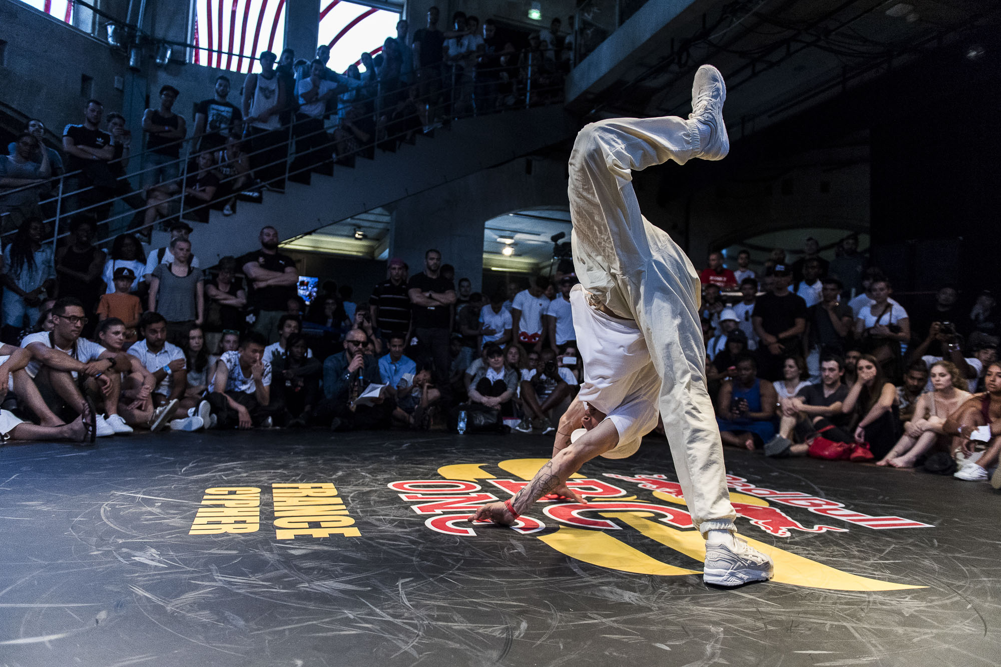 Fenix competes at the WIP Villette during the Red Bull BC One France Cypher Final in Paris, France on July 10th 2016.