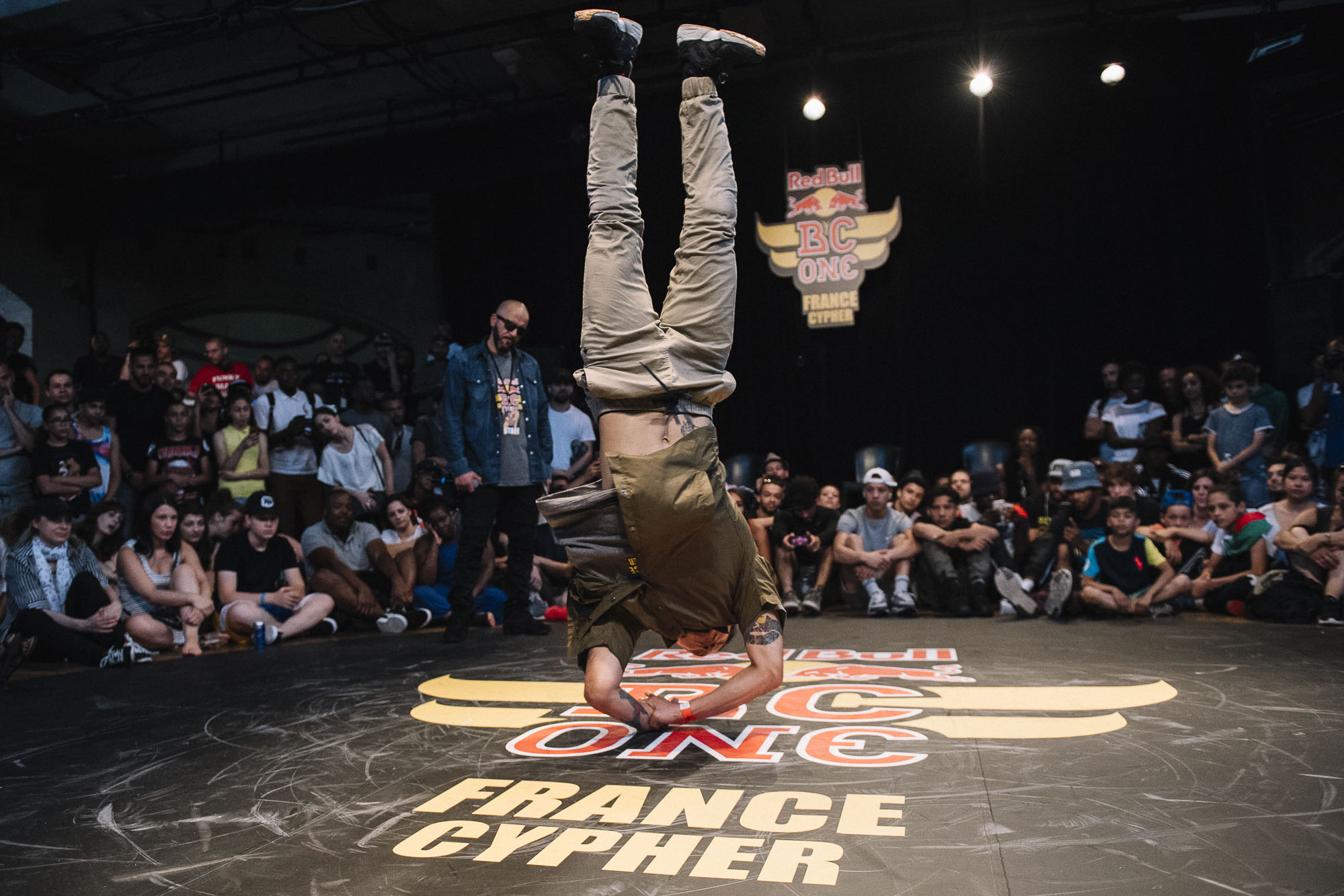 Hong Ten doing a judge demo at the WIP Villette during the Red Bull BC One France Cypher Final in Paris, France on July 10th 2016.
