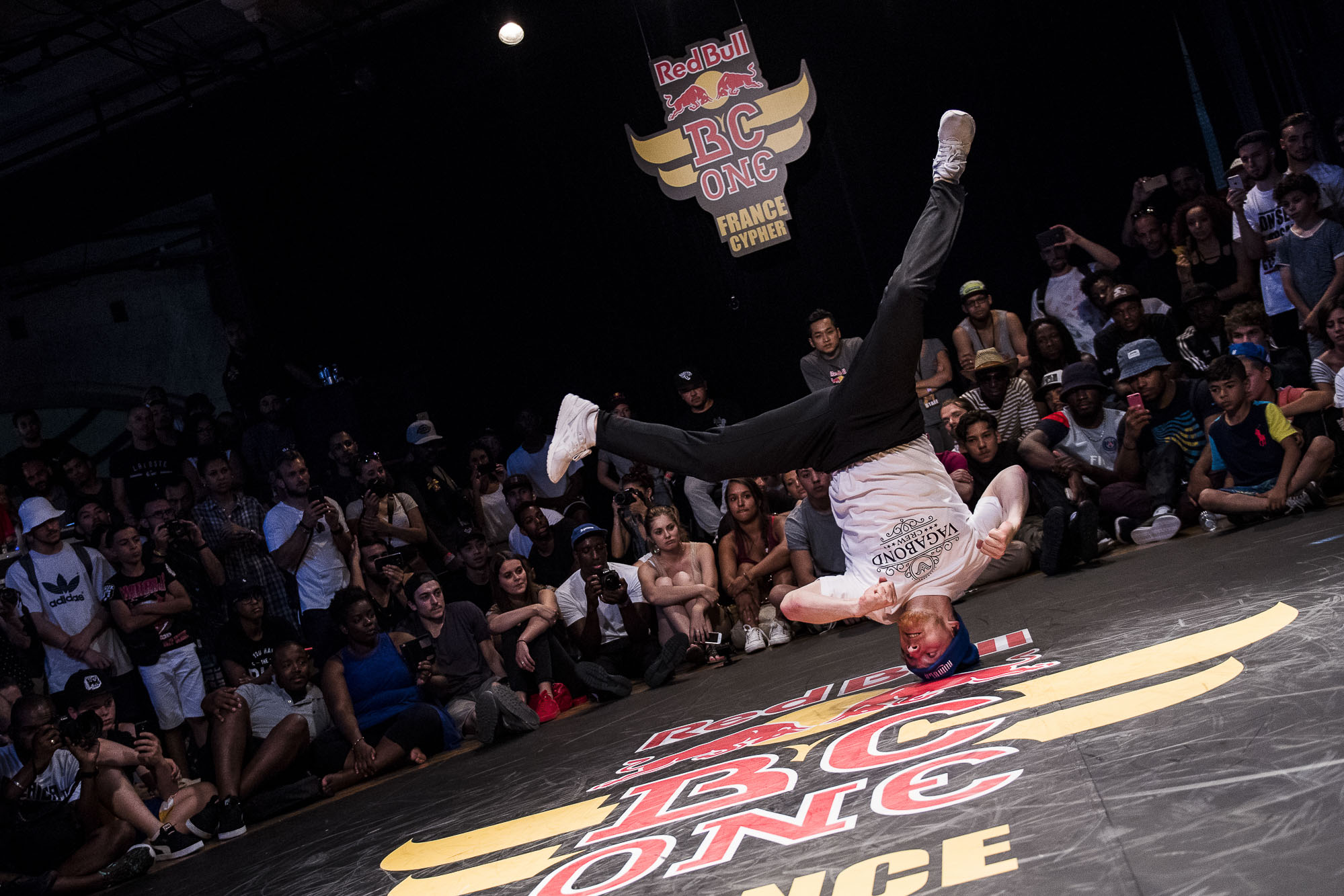 Lil Kev competes at the WIP Villette during the Red Bull BC One France Cypher Final in Paris, France on July 10th 2016.