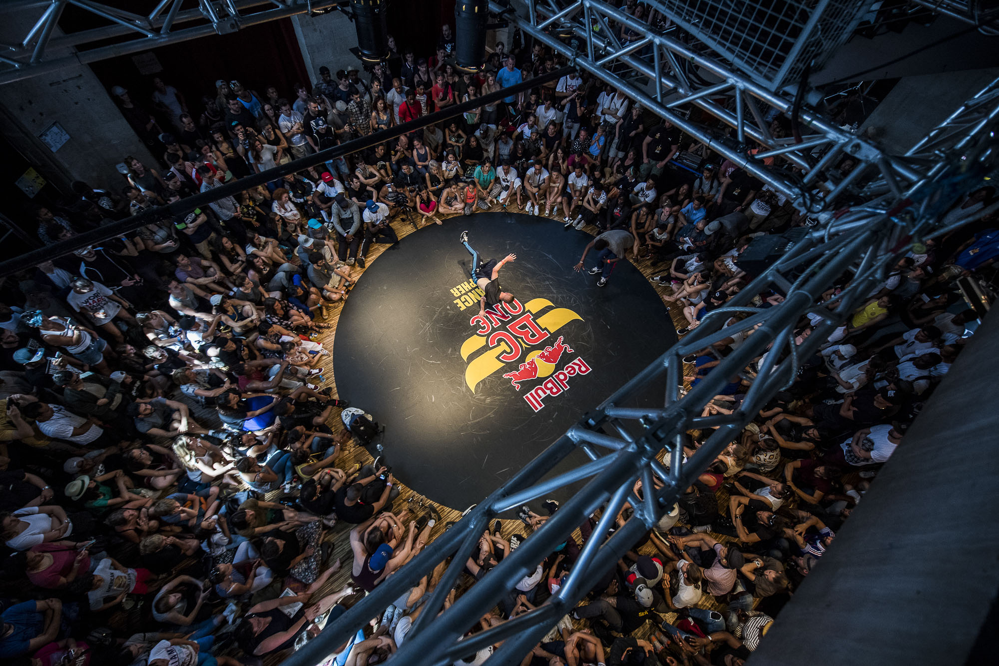 Francklin competes at the WIP Villette during the Red Bull BC One France Cypher Final in Paris, France on July 10th 2016.