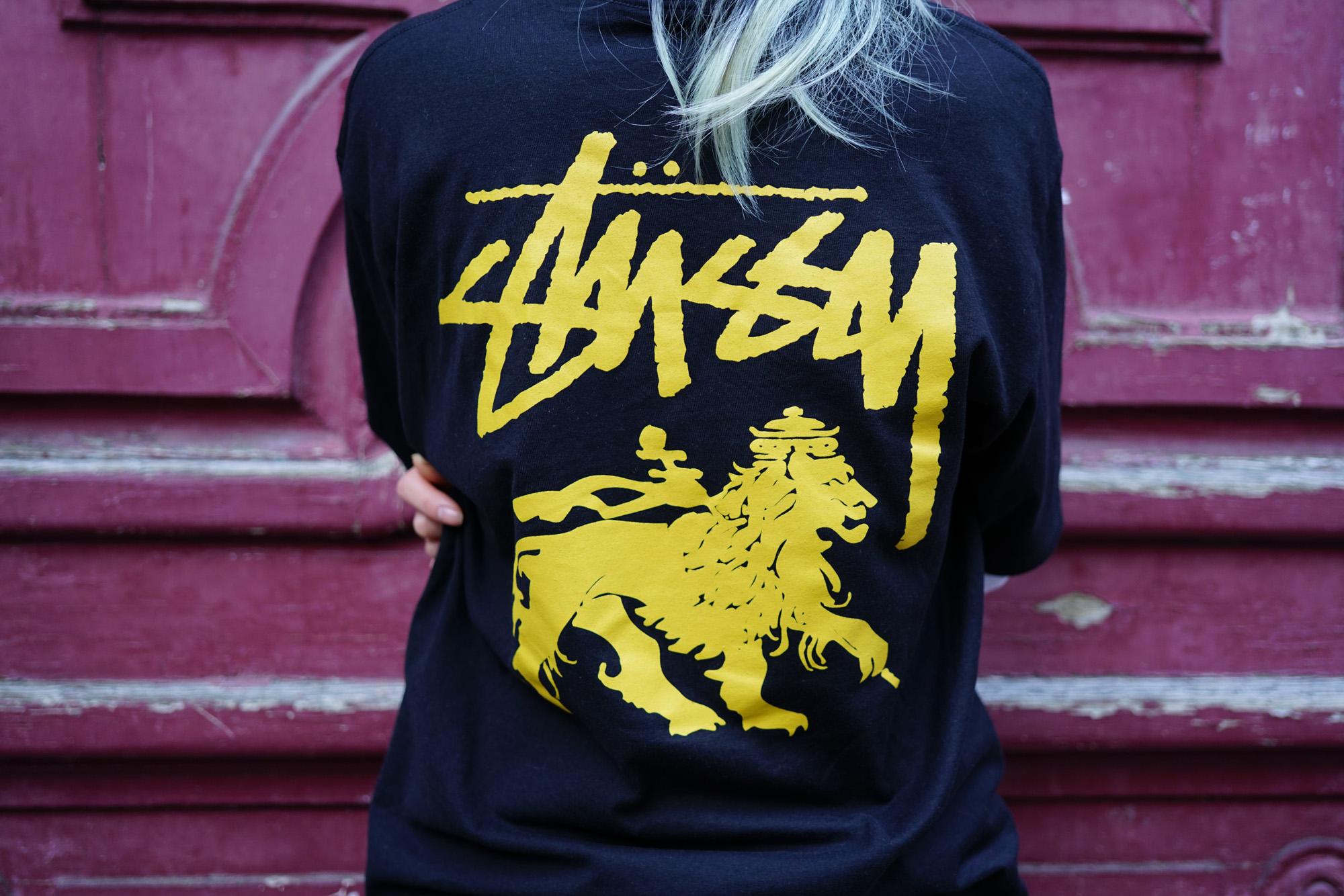 Stussy lion t shirt