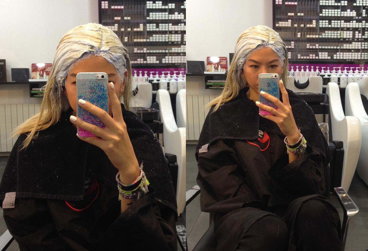 Faire une couleur sur des cheveux deja colore