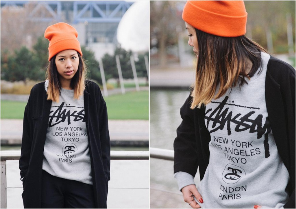 Pull Stussy gris