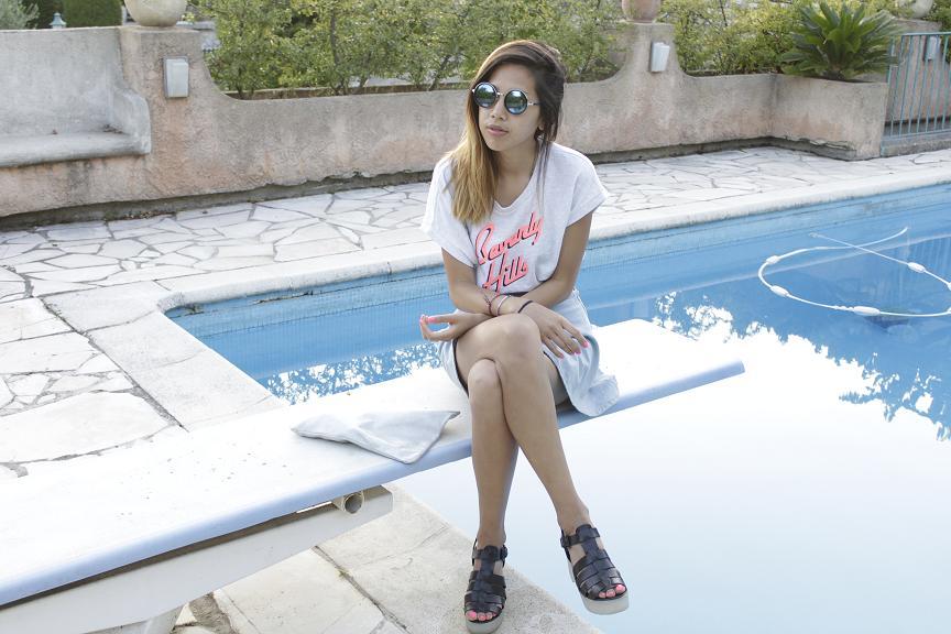 American Apparelcircle skirt Tally Weijl Beverly Hills Jumper
