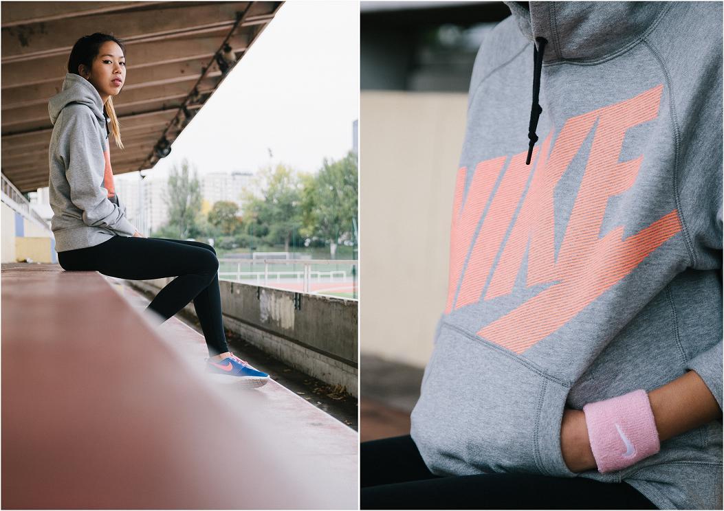 Sweat capuche gris Nike