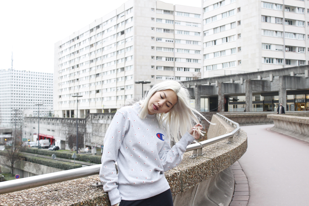 Champion grey sweater